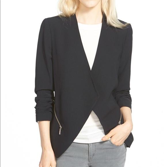 Trouve Jackets & Blazers - Trouve drapey open blazer black cropped sz S NWT
